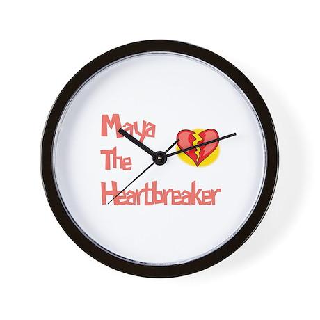 Maya the Heartbreaker Wall Clock