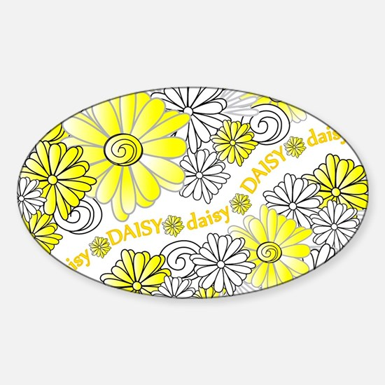 Oopsie Daisy Design Oval Decal