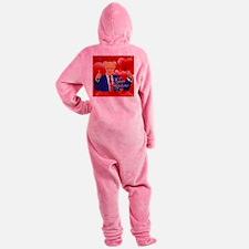 valentines day donald trump Footed Pajamas