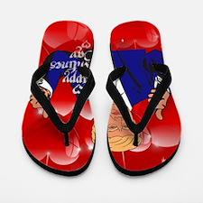 valentines day donald trump Flip Flops