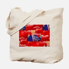 valentines day donald trump Tote Bag