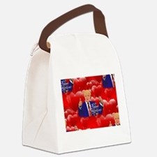 valentines day donald trump Canvas Lunch Bag