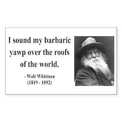 Walter Whitman 1 Rectangle Decal