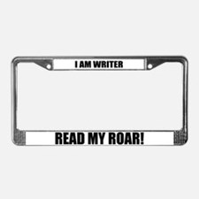 I am Writer License Plate Frame