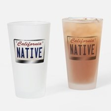 california_licenseplates-native2.pn Drinking Glass