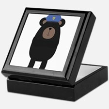 Grizzly Police Officer Keepsake Box