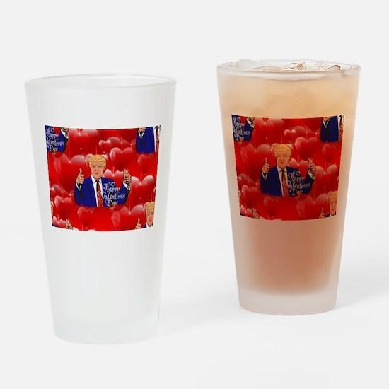 valentines day donald trump Drinking Glass