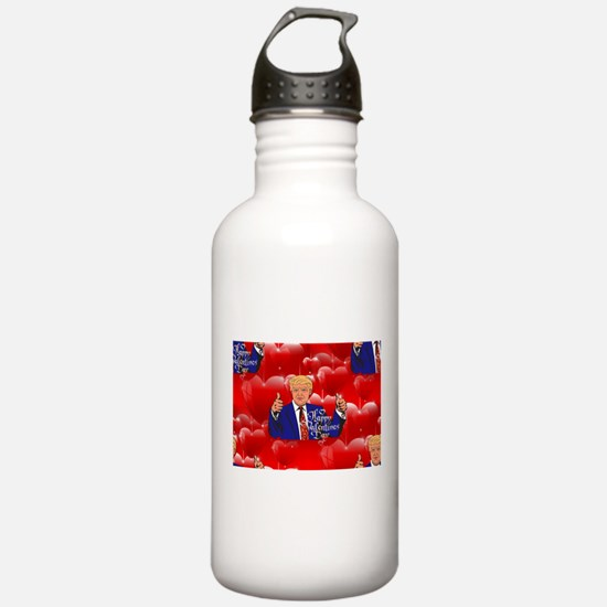valentines day donald Water Bottle