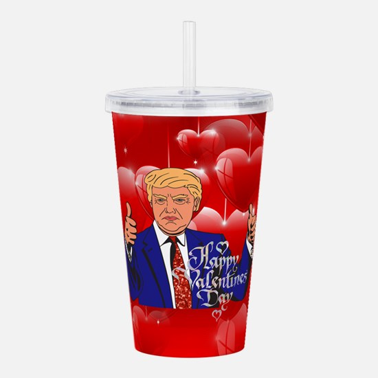 valentines day donald Acrylic Double-wall Tumbler
