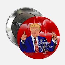 "valentines day donald trump 2.25"" Button"
