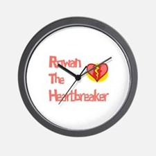 Rowan the Heartbreaker Wall Clock