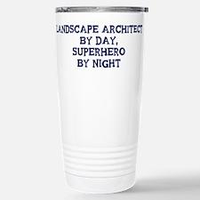 Unique Teacher by day superhero by night Travel Mug