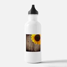 bohemian barn wood sun Water Bottle