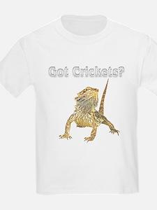 Bearded Dragon Pocket Crickets III Black T-Shirt