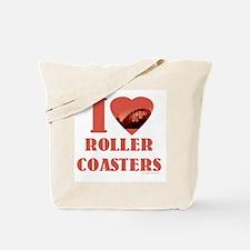 I love Roller Coasters Tote Bag