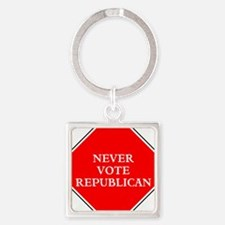 Never vote republican Keychains