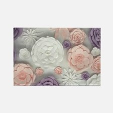pastel purple pink floral Magnets