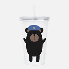 Happy Grizzly Police O Acrylic Double-wall Tumbler
