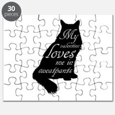Valentine Cat loves Sweatpants Puzzle