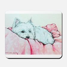 Sleepy Westie Mousepad