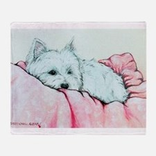 Sleepy Westie Throw Blanket