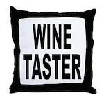Wine Taster Throw Pillow