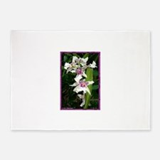 Orchids! Flower photo! 5'x7'Area Rug