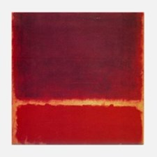 ROTHKO ORANGE RED Tile Coaster