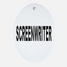Screenwriter Oval Ornament