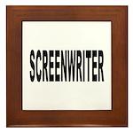 Screenwriter Framed Tile
