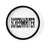 Screenwriter Wall Clock