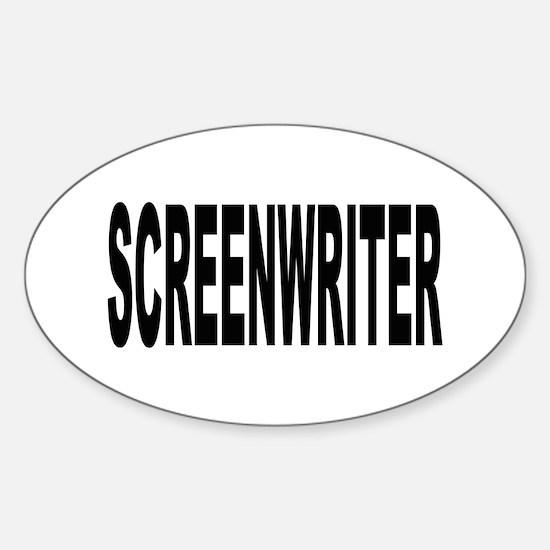 Screenwriter Oval Decal