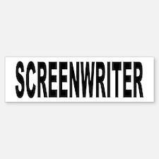 Screenwriter Bumper Bumper Bumper Sticker