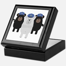 Grizzly Police Officer Squad Keepsake Box