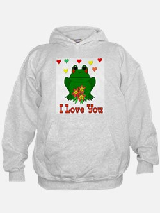 Green Frog Valentine Hoodie
