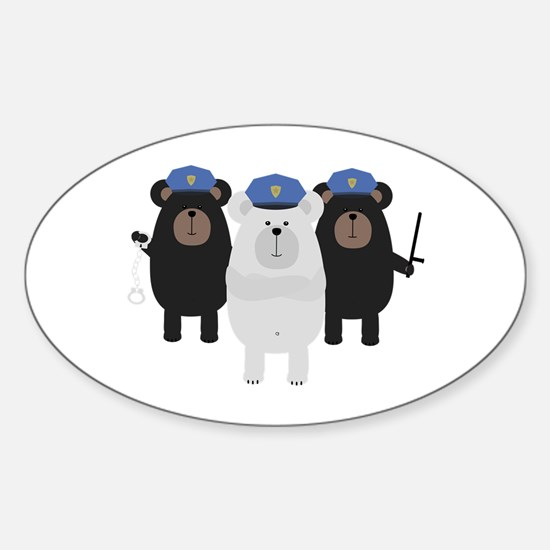 Grizzly Police Officer Squad Decal
