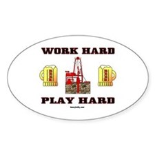 Play Hard Oval Decal