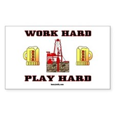 Play Hard Rectangle Decal