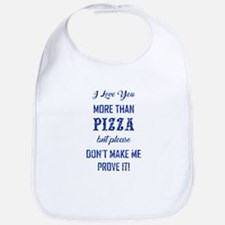 PIZZA Cotton Baby Bib