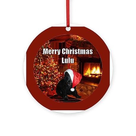 Puppy dog Christmas Ornament (Round)