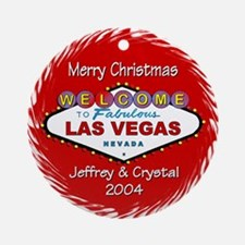 Jeffrey & Crystal Las Vegas Ornament (Round)