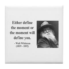 Walter Whitman 2 Tile Coaster