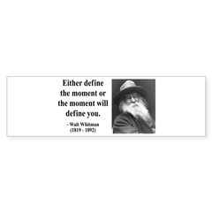 Walter Whitman 2 Bumper Bumper Sticker