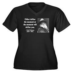Walter Whitman 2 Women's Plus Size V-Neck Dark T-S