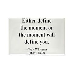 Walter Whitman 2 Rectangle Magnet (100 pack)