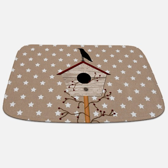 Primitive Birdhouse Bathmat