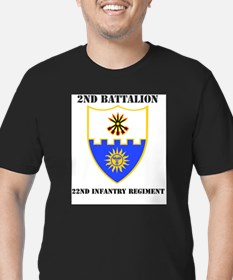 DUI - 2nd Bn - 22nd Infantry Regt with Tex T-Shirt