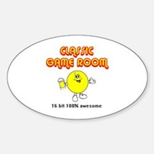 Funny Game room Sticker (Oval)
