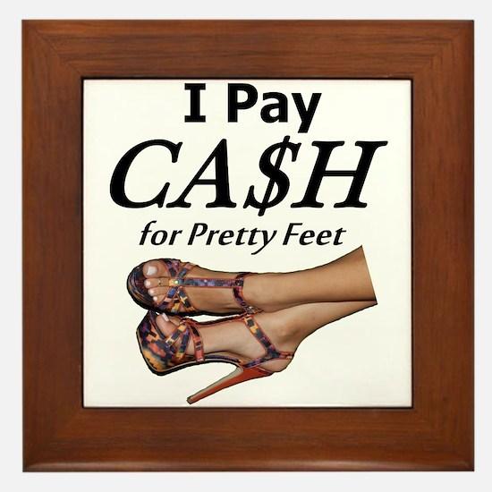 Cash for Pretty Feet Framed Tile