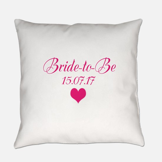Bride to Be Wedding Date Everyday Pillow